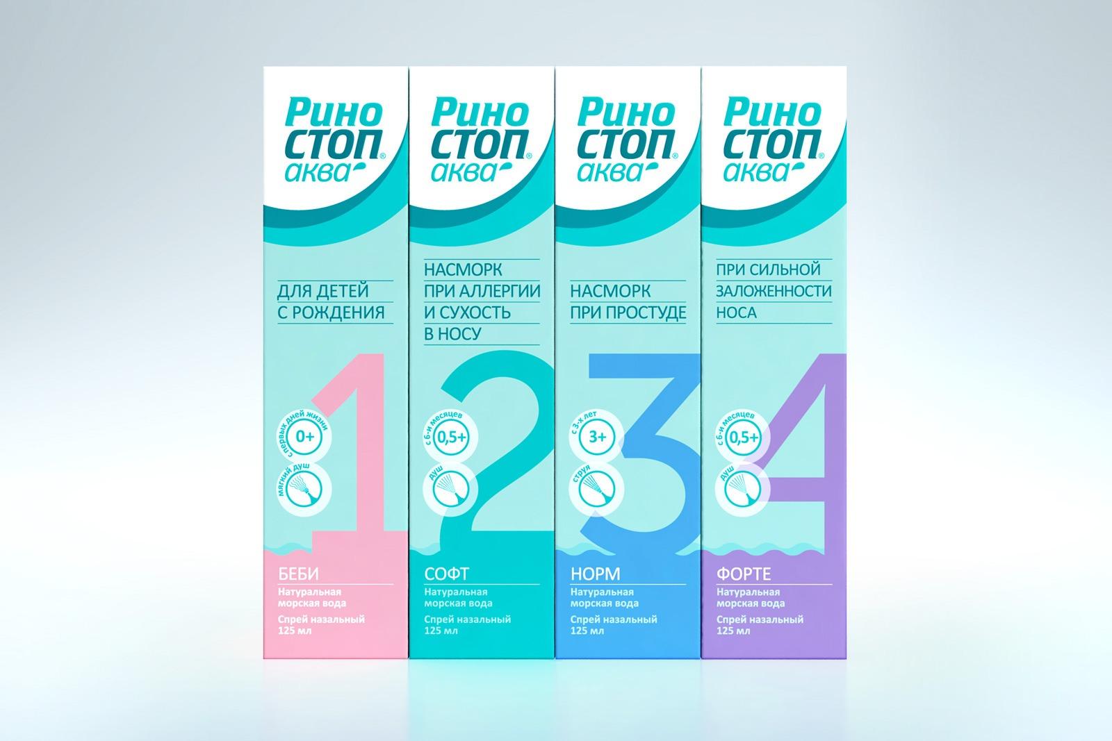 ОTC Pharm, Риностоп Аква, дизайн упаковки, упаковка для лекарства