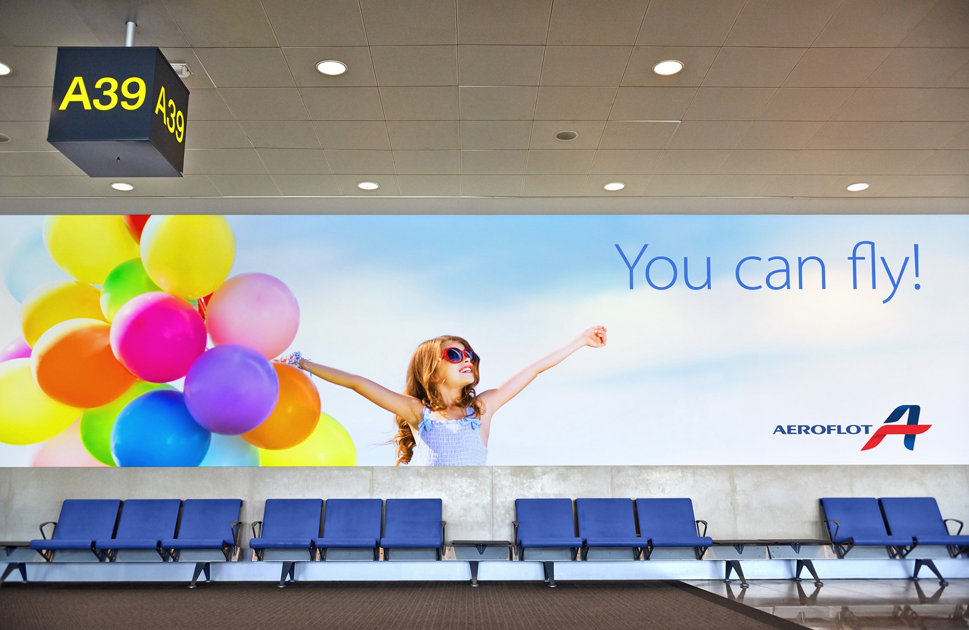 Постер Аэрофлот, рекламная кампания, Aeroflot identity, фирменный стиль авиакомпании, Asgard Branding, лого Аэрофлот