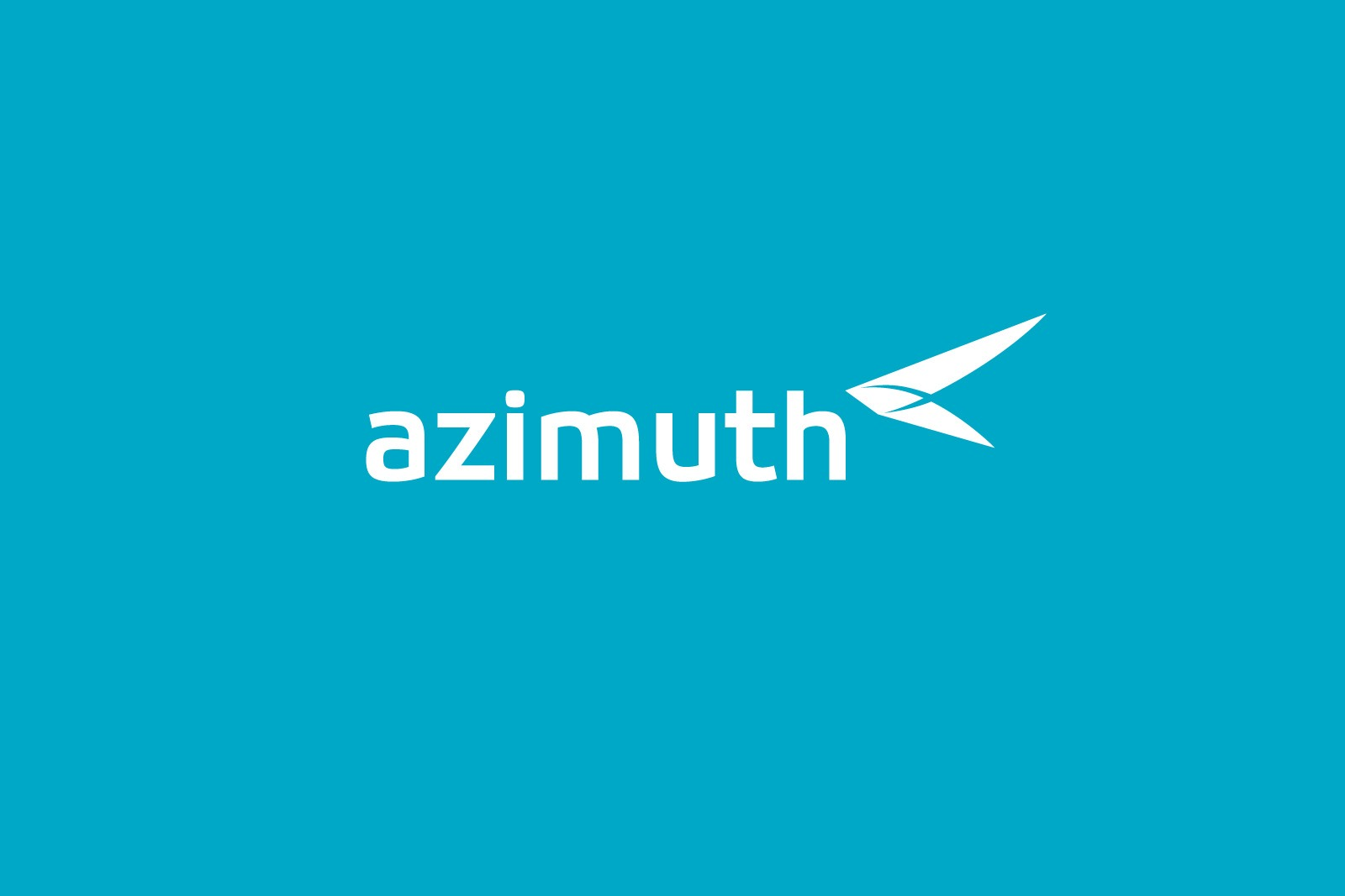 Авиакомпания Азимут, логотип на голубом, Azimuth Airline logo