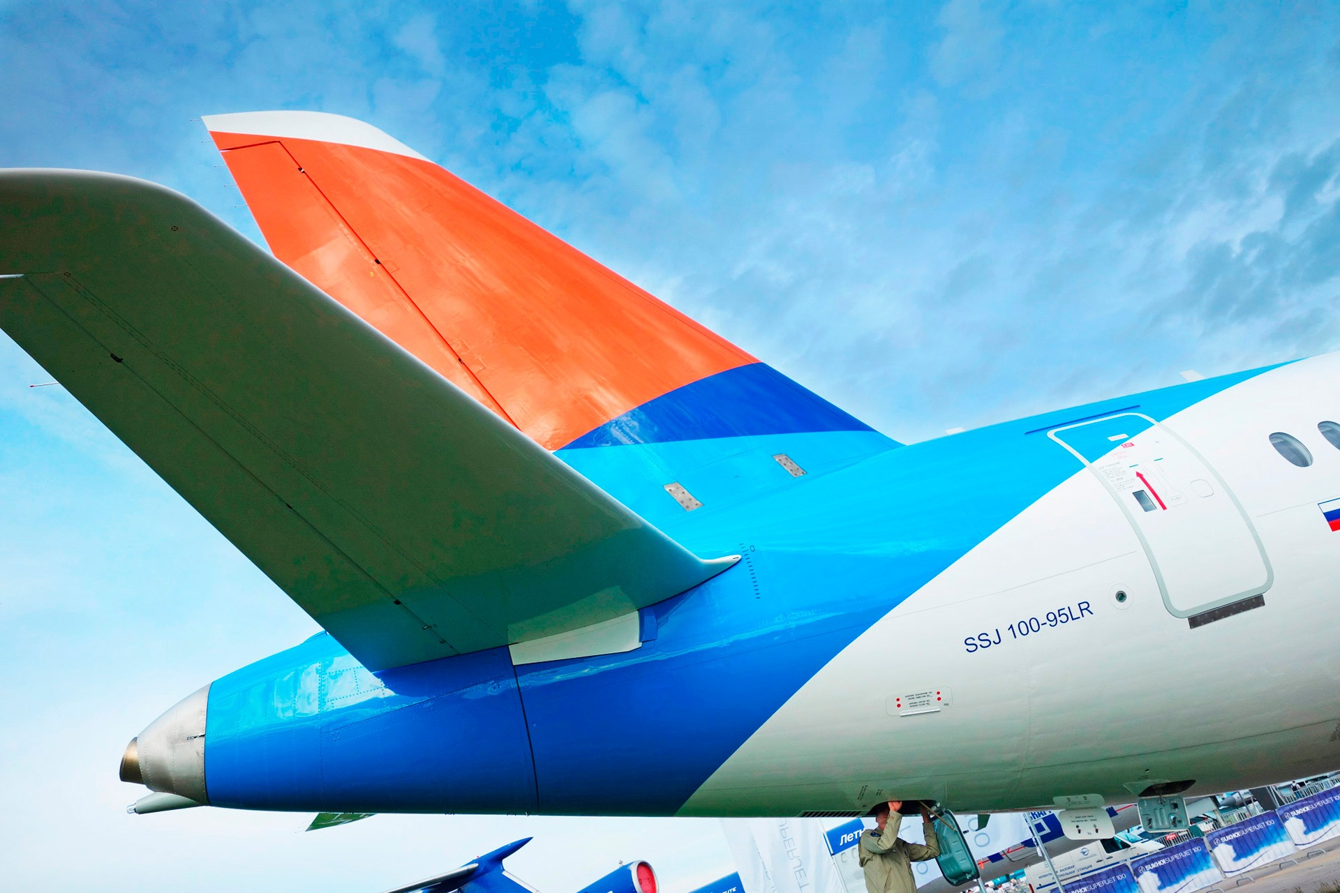 SSJ-100, брендинг авиакомпании Азимут, livery design for Azimuth Airline