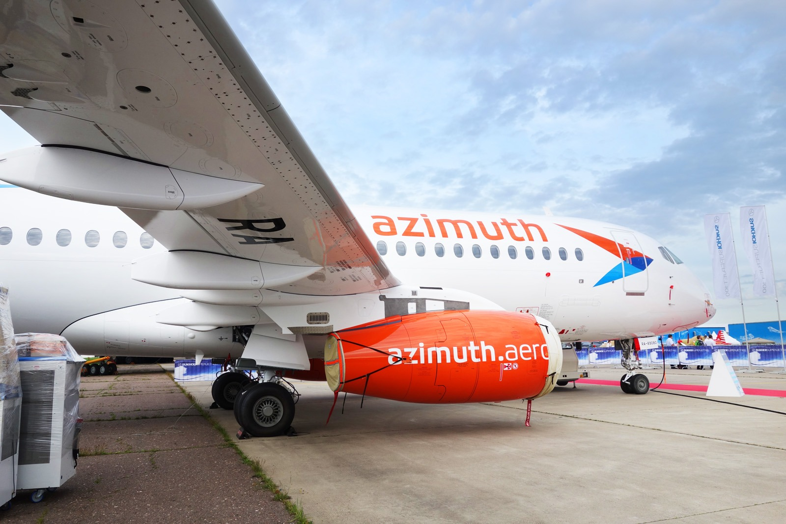 Дизайн ливреи самолета, брендинг авиакомпании Азимут, Asgard Branding