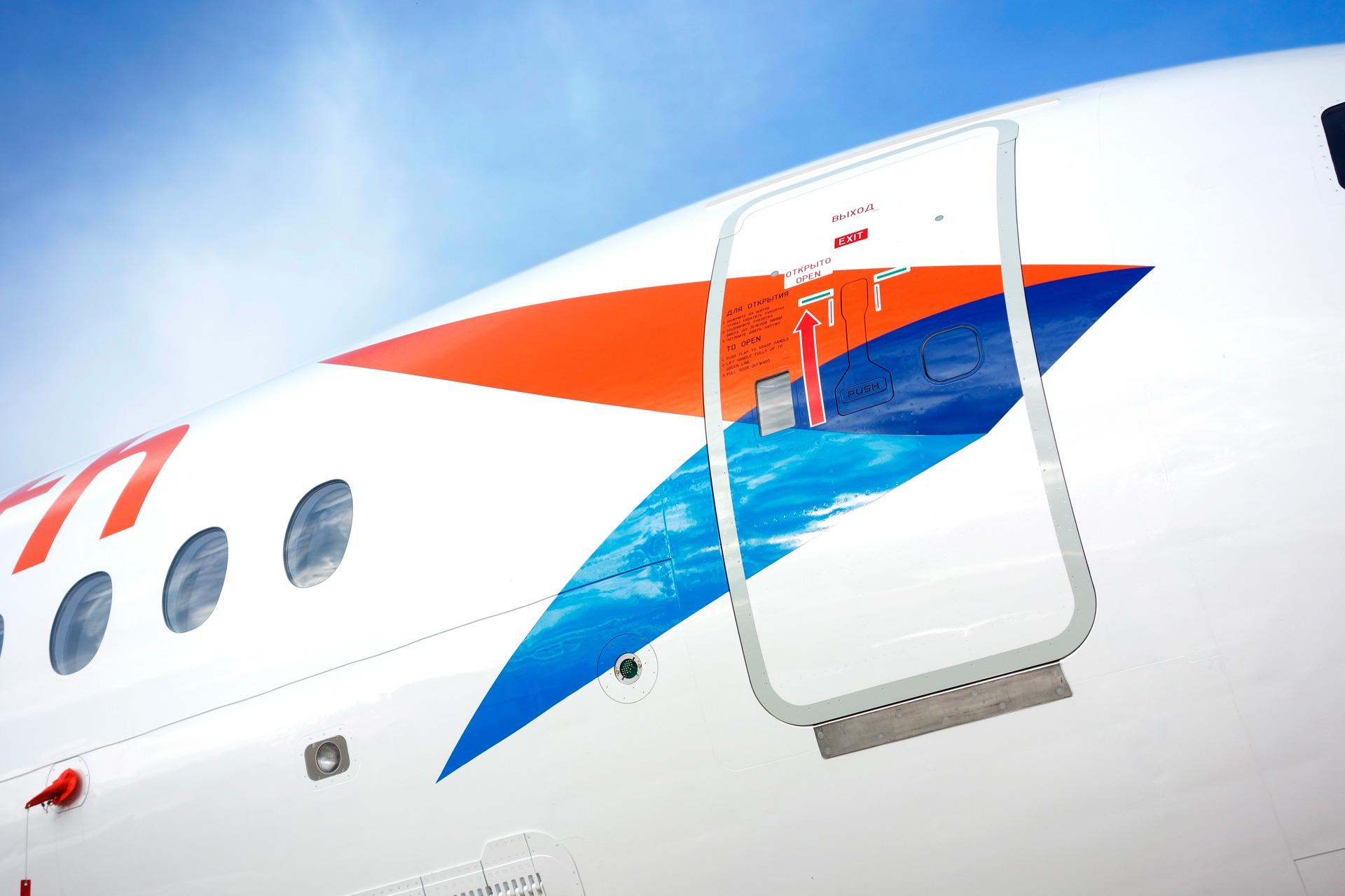 Авиакомпания «Азимут», Aircraft livery design, Azimuth Airline, SSJ-100
