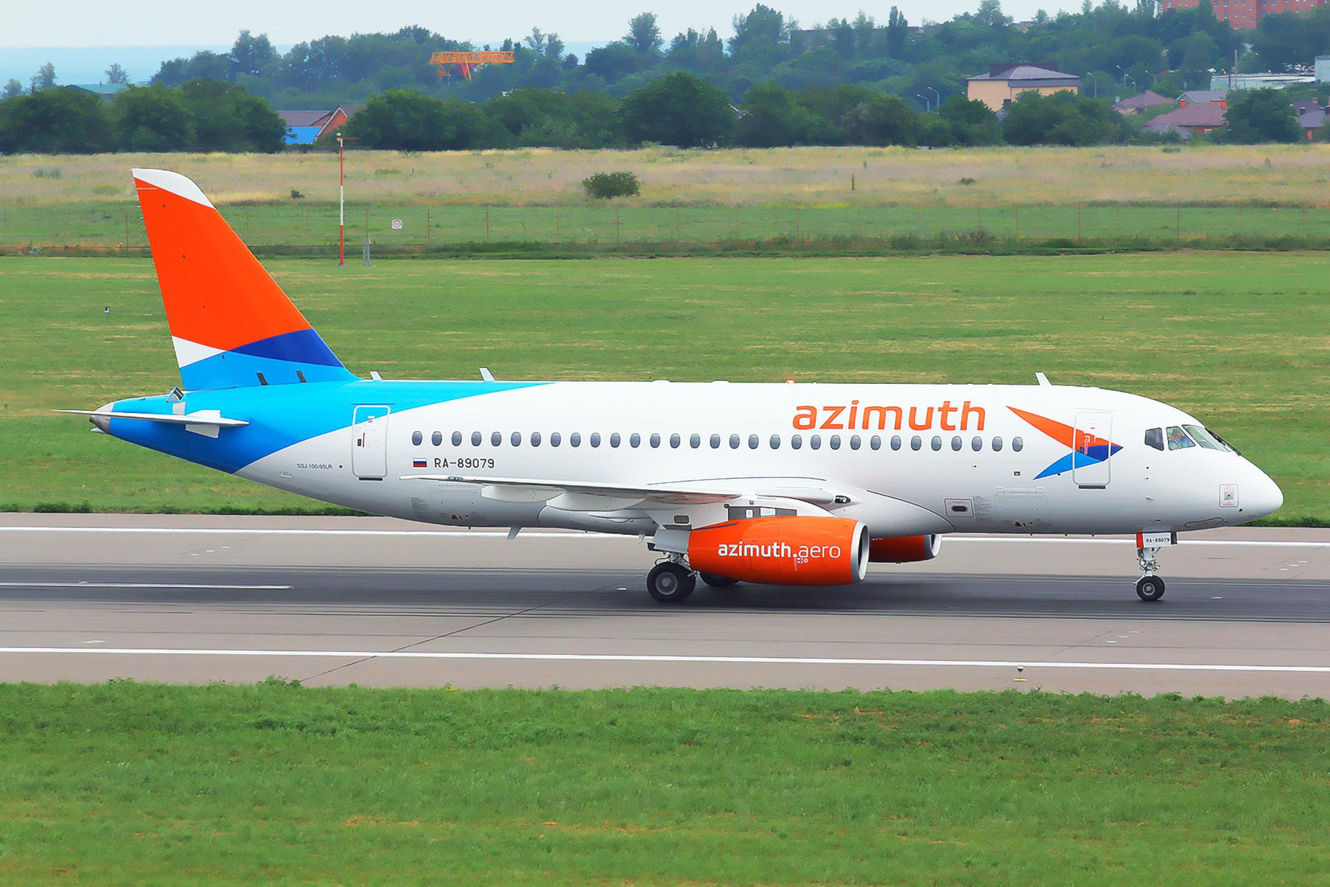 Asgard Branding, дизайн ливреи самолета, брендинг авиакомпании Азимут, SSJ-100