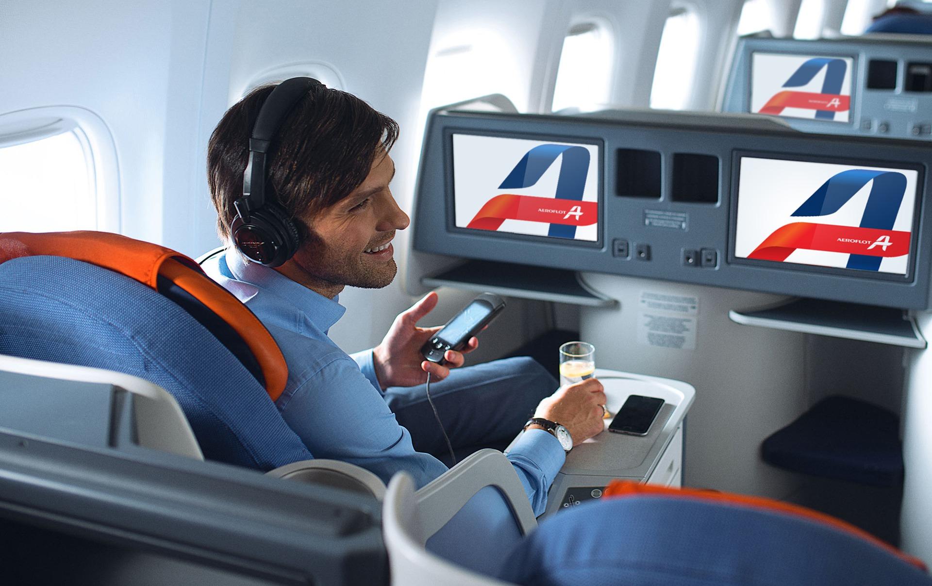 Фирменный стиль авиакомпании, Asgard Branding, лого Аэрофлот, Aeroflot, салон самолета