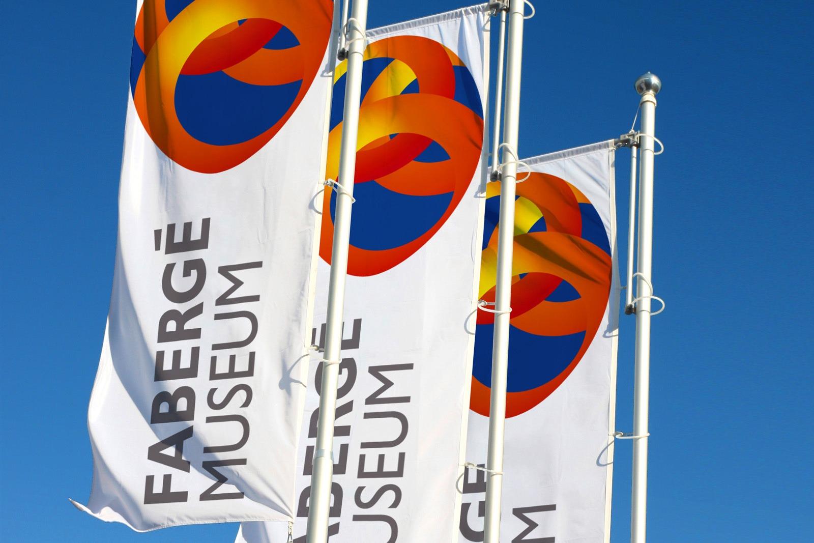 Агентство Асгард, дизайн флагов, фирменный стиль, Музей Фаберже, Fabergé Museum identity