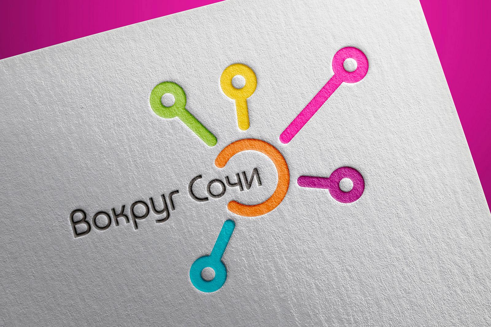 Вокруг Сочи, Around Sochi, лого, logo design, corporate identity