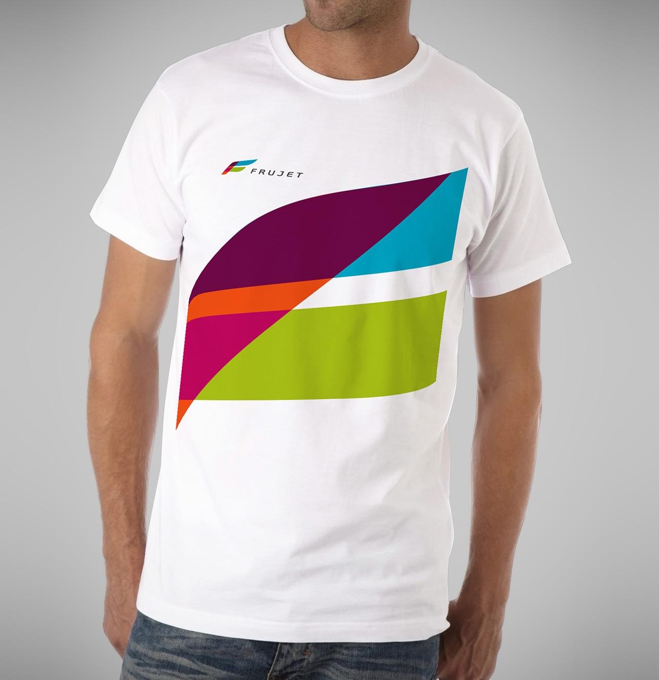 Брендинговое Агентство Асгард, фирменный стиль Frujet, дизайн футболки