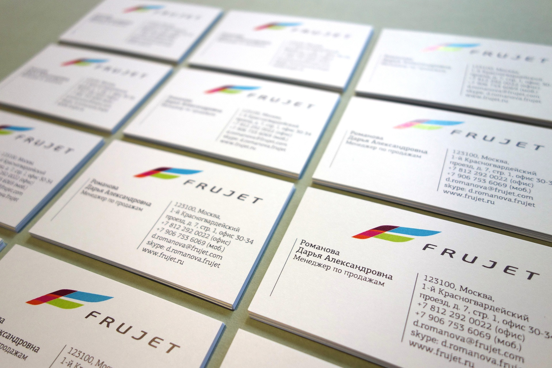 ASGARD Branding, Frujet, дизайн визитных карточек