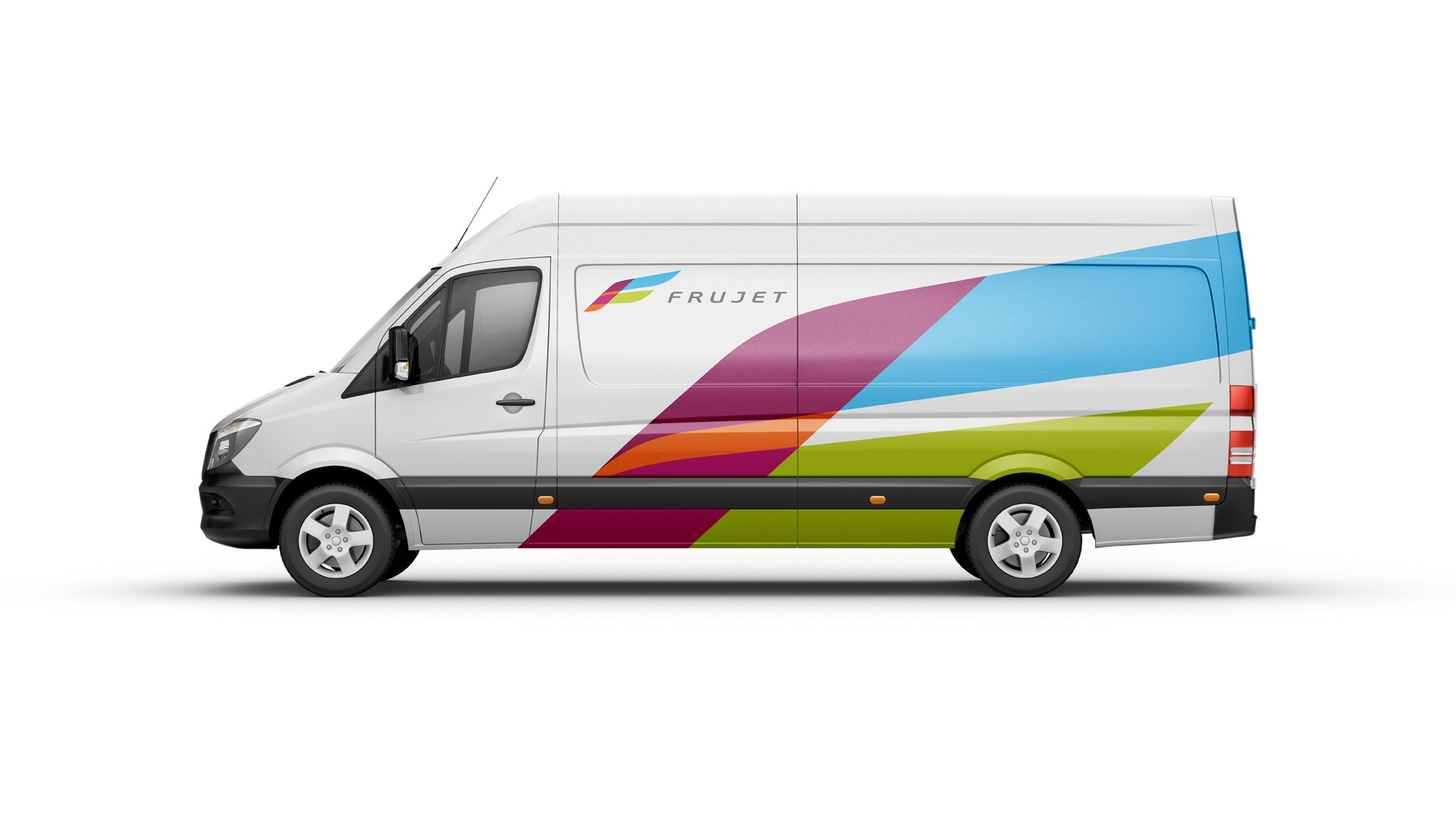 Asgard Branding, Frujet corporate identity, corporate transport, брендирование транспорта