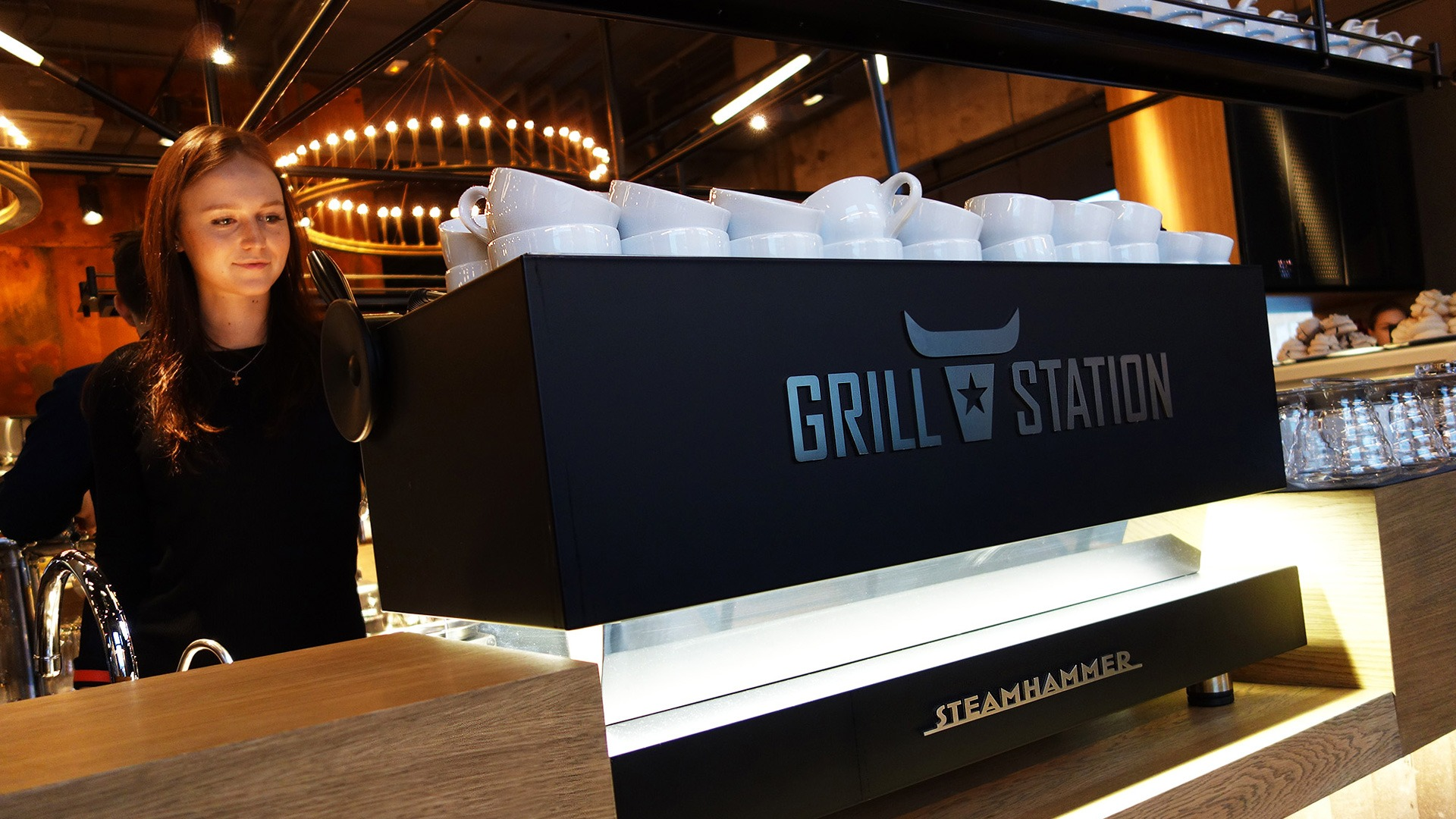 AsgardBranding, Grill Station restaurant, logo design, брендинг интерьера