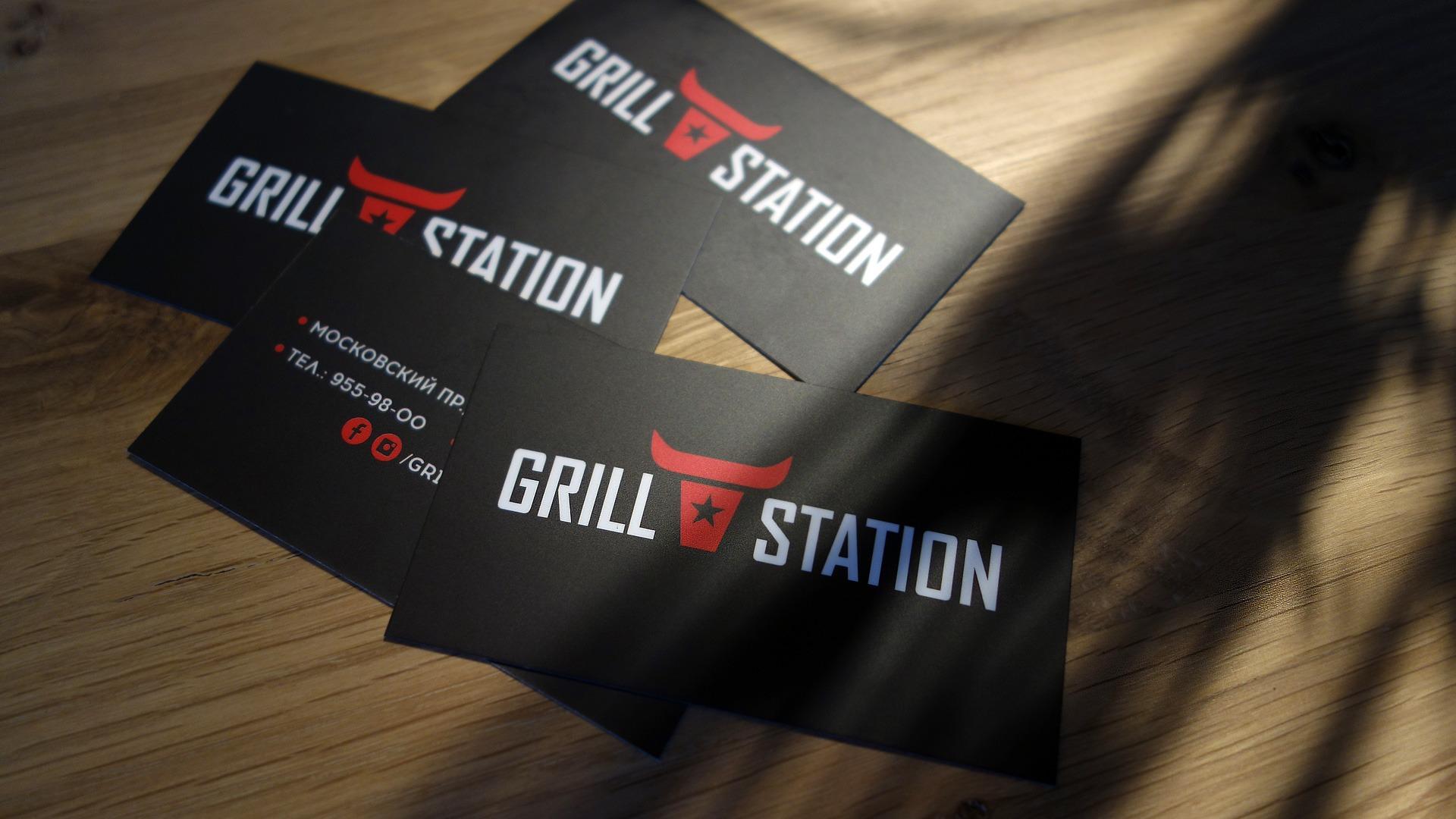 Дизайн визитных карточек, Асгард брендинг, фирменный стиль ресторана, разработка логотипа, Asgard design