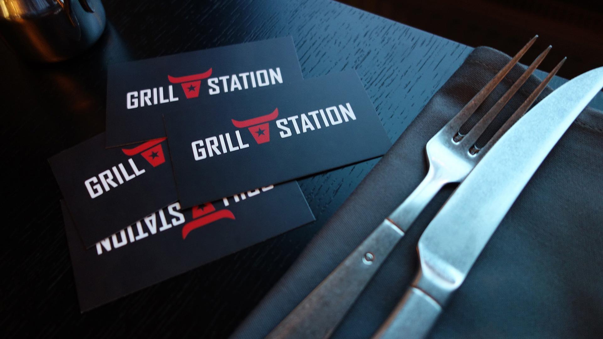 Агентство Асгард, брендинг ресторана Grill Station, фирменный стиль, Asgard branding agensy, logo