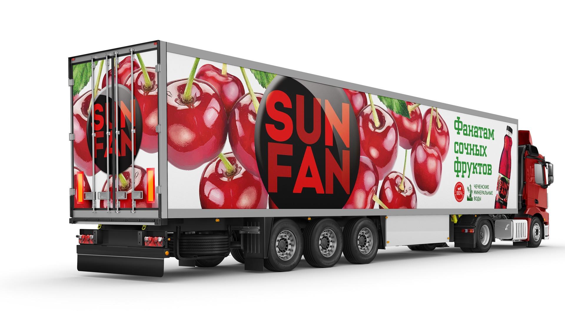 Asgard, SUN FUN, брендирование автотранспорта, Чеченские минеральные воды