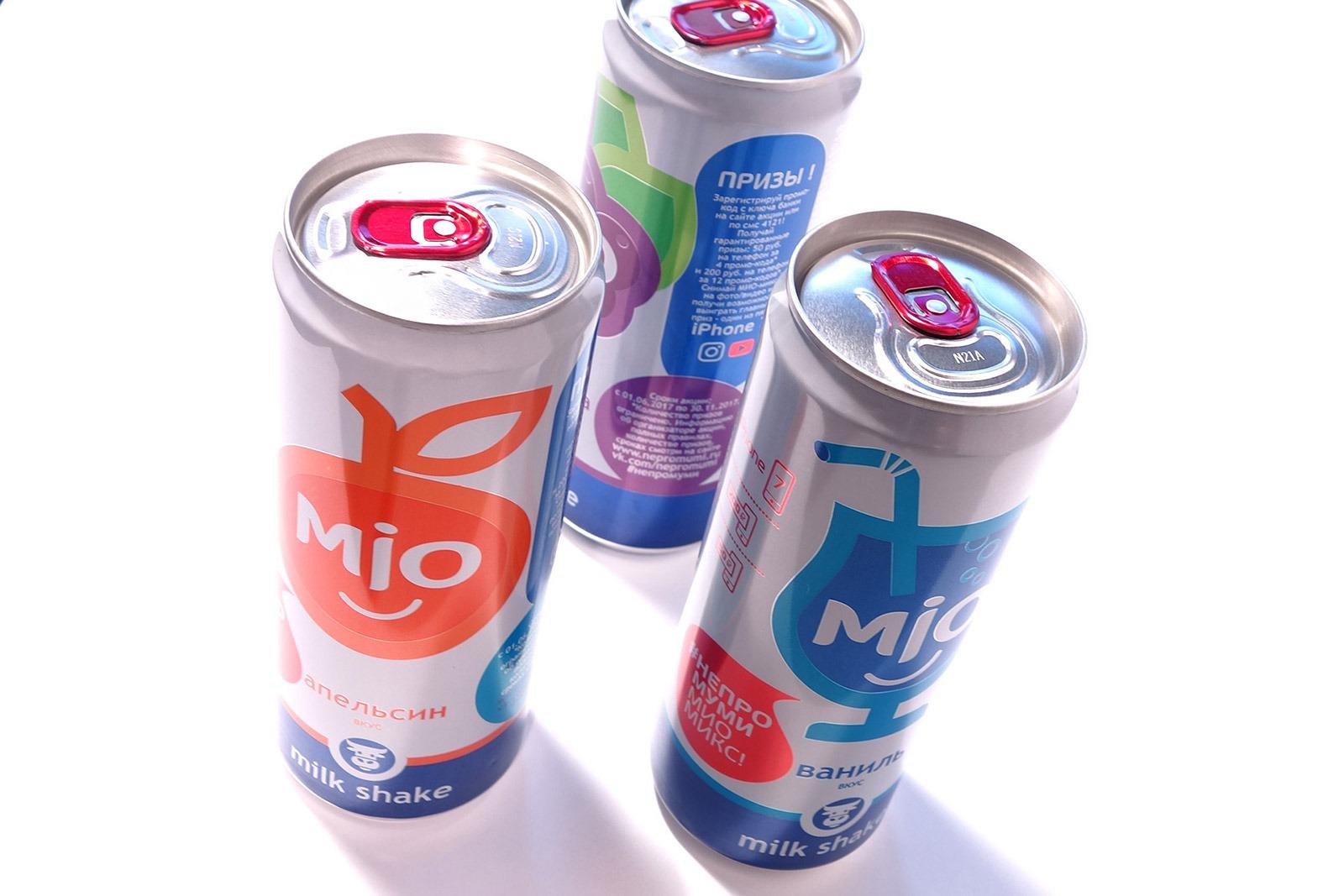 МИО, молочный лимонад, milk-shake, Brand design, Alkon Group