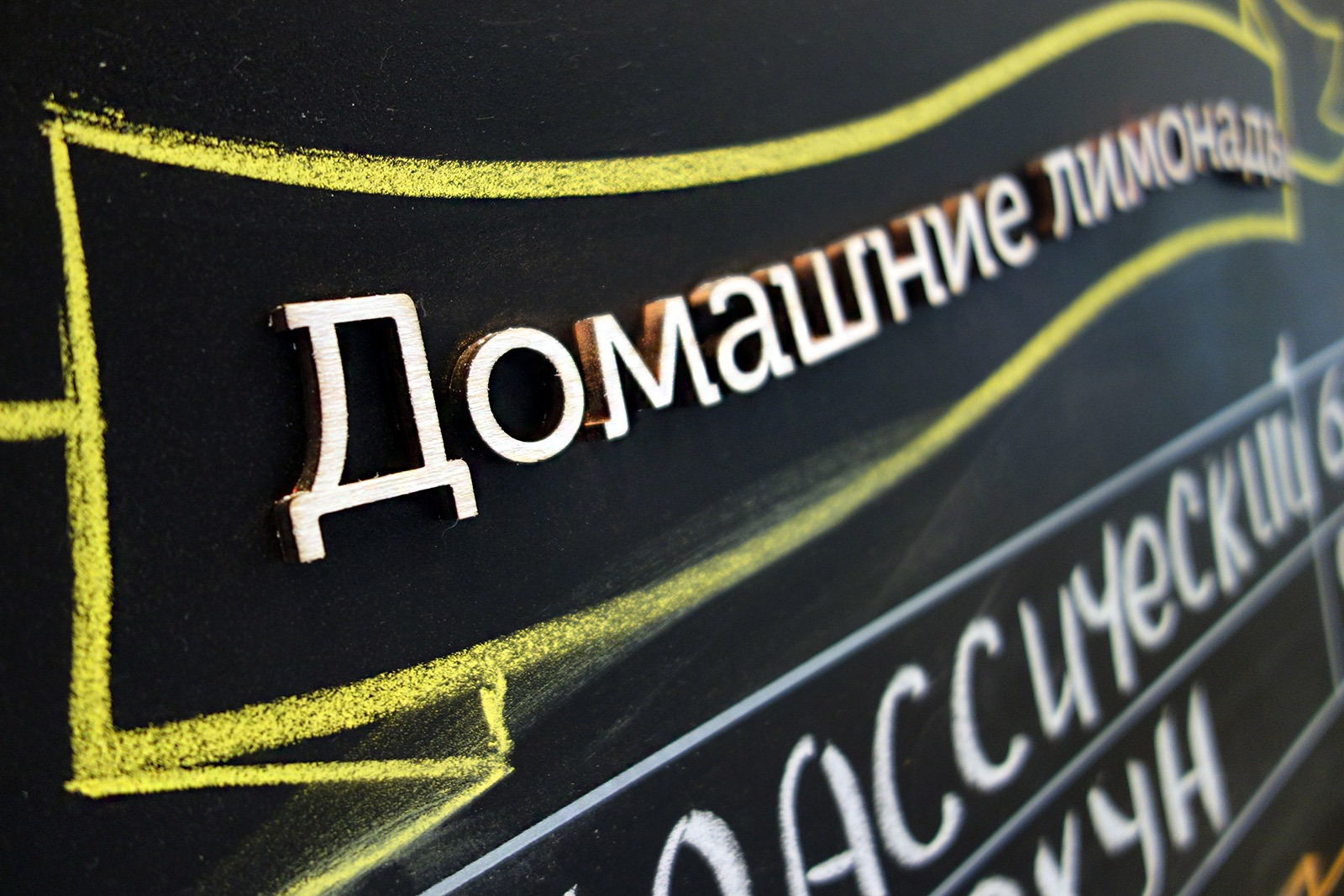 Асгард Брендинг, фирменный стиль, дизайн грифельной доски меню, ресторан Marketplace, система графической навигации, брендинг ресторана