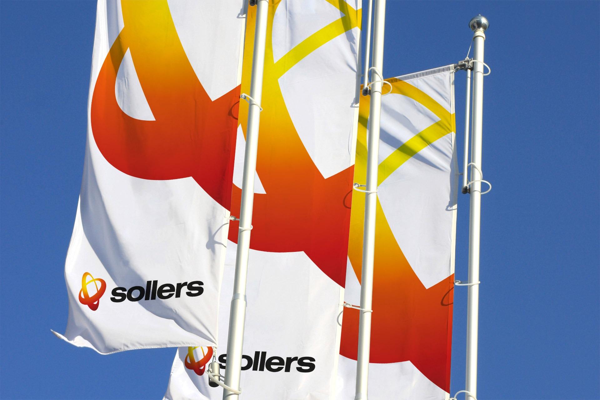 Агентство Асгард, Sollers brand identity, дизайн флагов