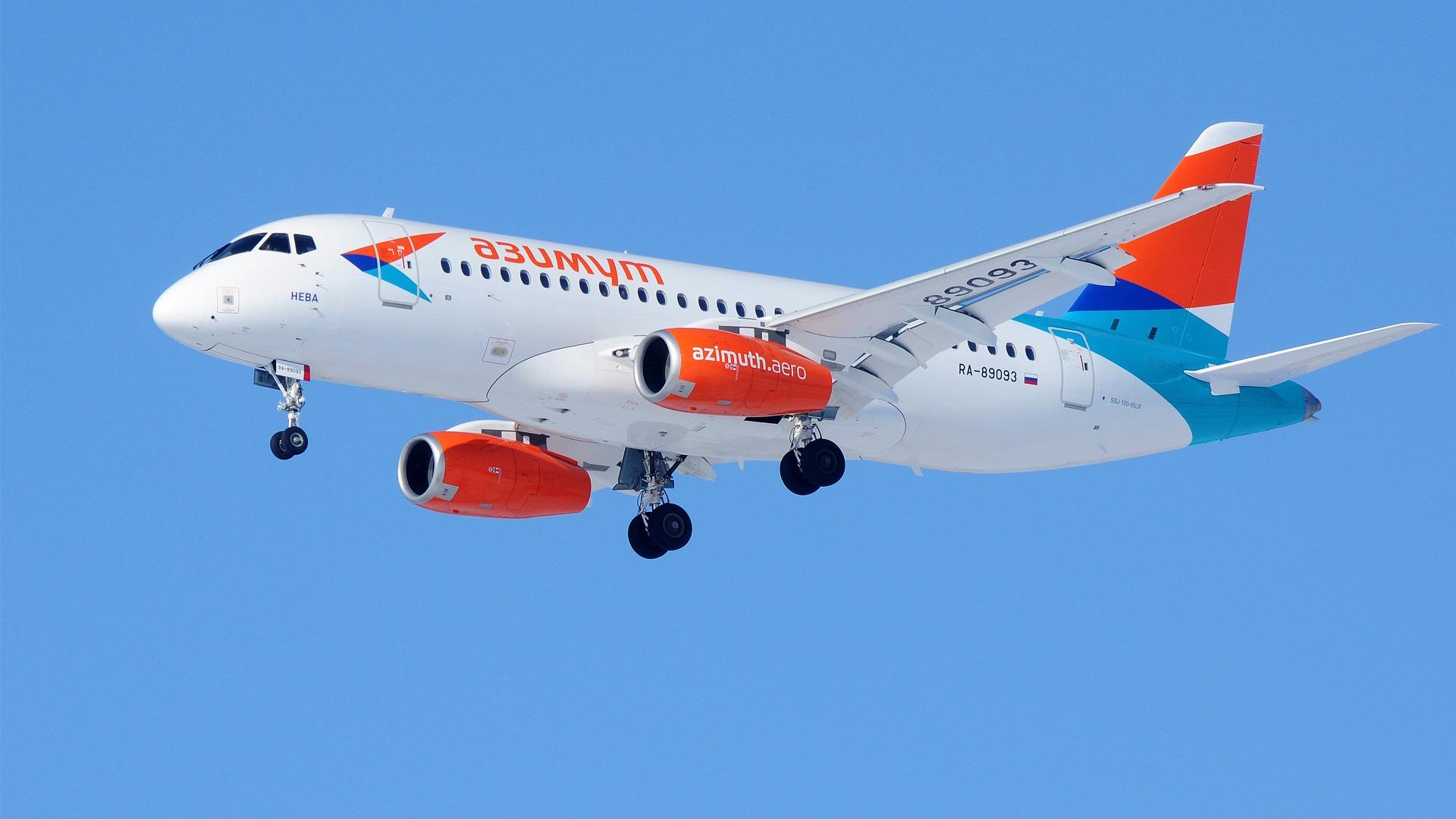 Авиакомпания, Азимут, azimuth, airlines, airplane, livery, branding, aicraft, ssj100, sukhoi, sukhoisuperjet, superjet100, SSJ-100, Сухой суперджет, брендинг авиакомпании