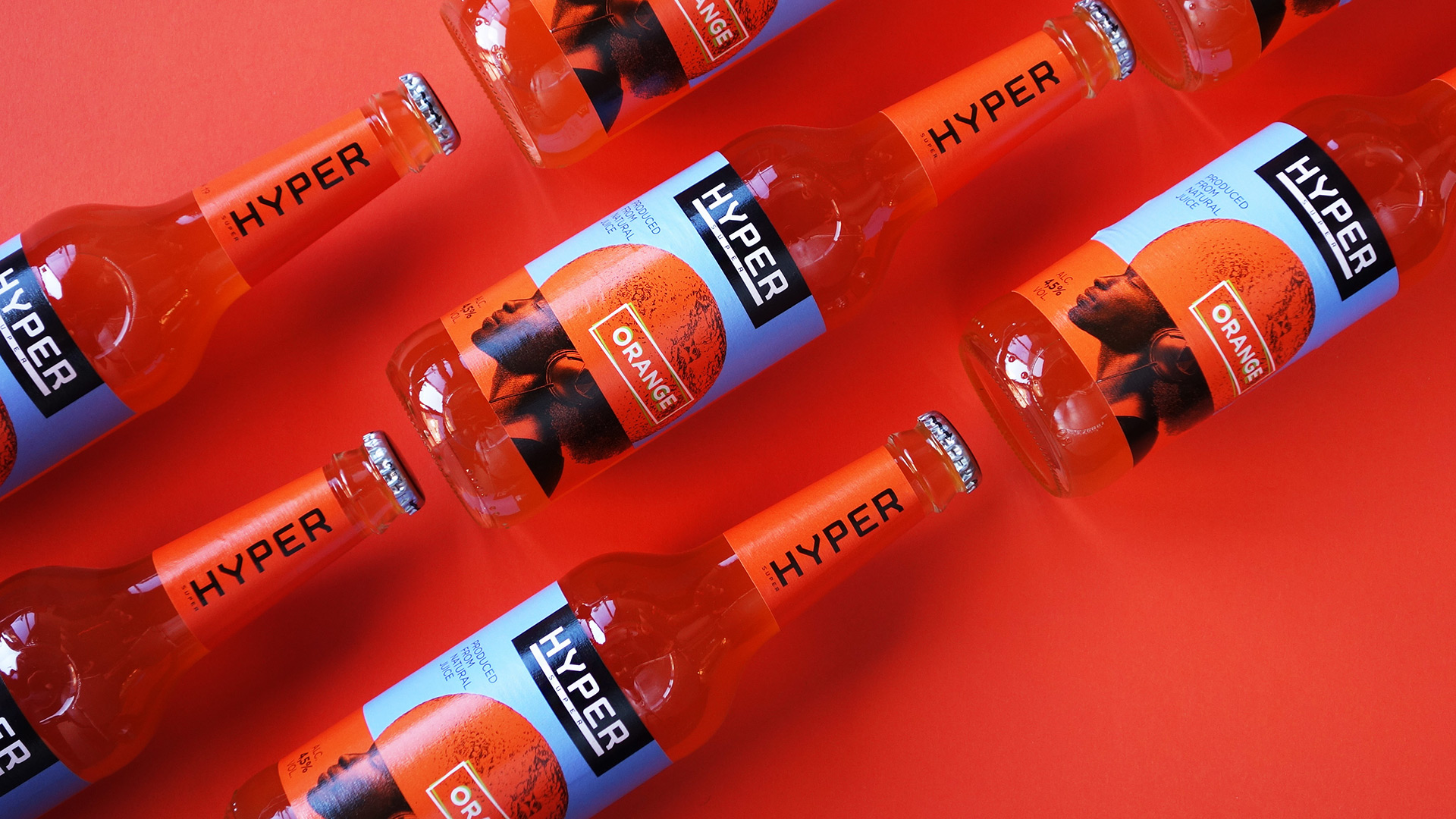 Asgard Branding, packaging, illustration, packaging design, head, orange, Hyper,