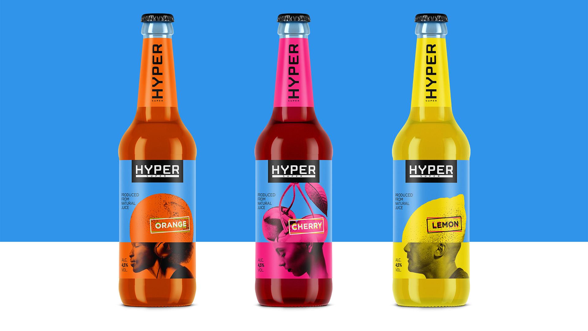 Асгард Брендинг, упаковка, брендинг, апельсин, вишня, лимон, голова, оранжевый, магента, напиток, Hyper, magenta, head, design, packaging, Asgard branding, HomoFructus