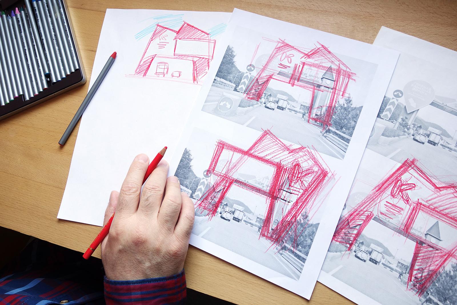 Асгард, Давид Авакян, эскиз, графический дизайн, Красная Поляна, арка