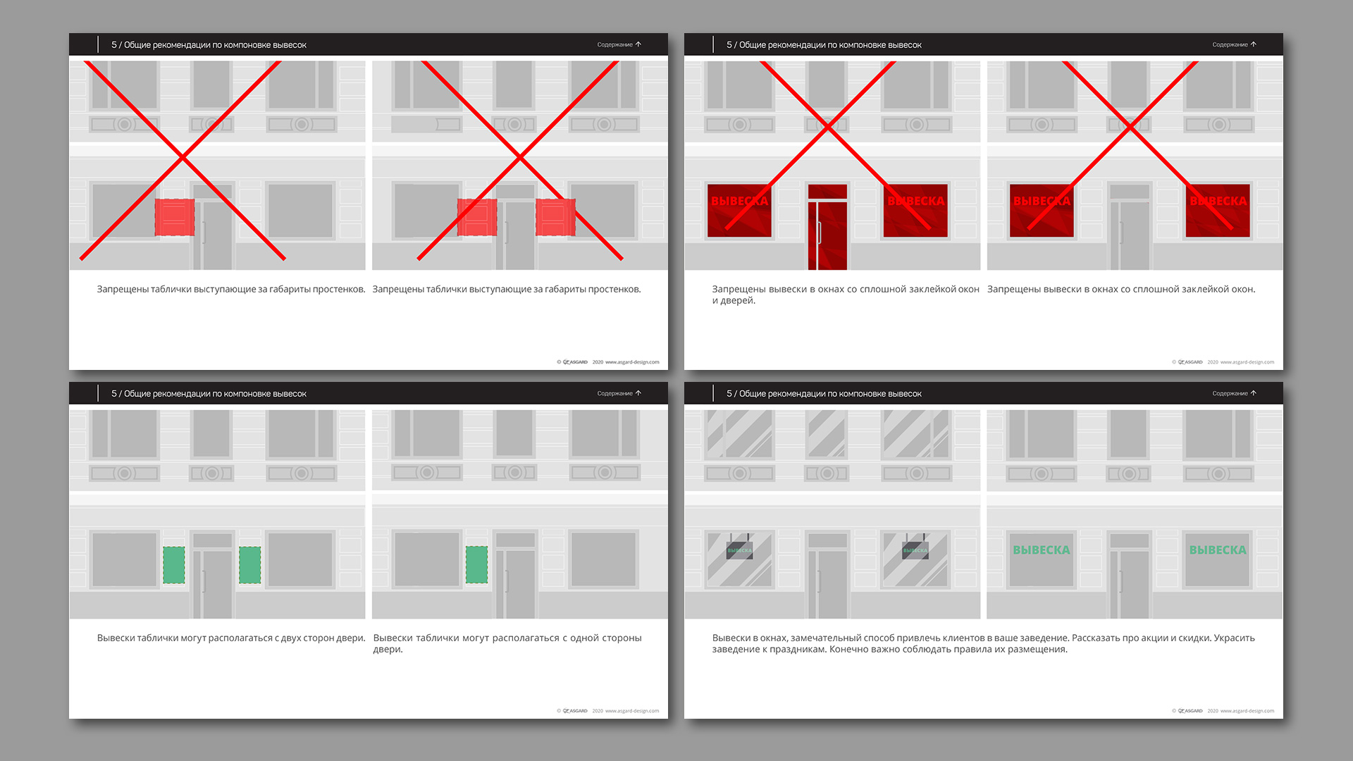 Асгард Брендинг, Красная Поляна, Курорт Красная Поляна, дизайн-код, реклама, рекламная экология, витрины, рекламные конструкции, нормативы оформления витрин